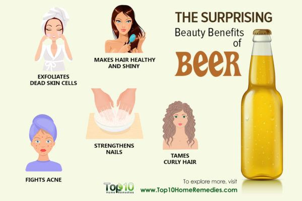 surprising beauty benefits of beer