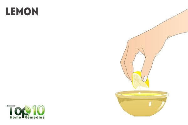 lemon juice for peeling feet
