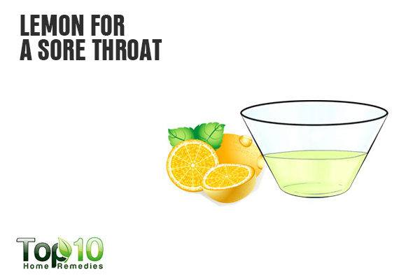 lemon juice treats sore throat