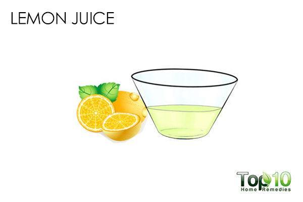 lemon juice helps treat blackheads in your ear