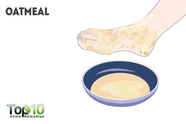 oatmeal for peeling skin on feet