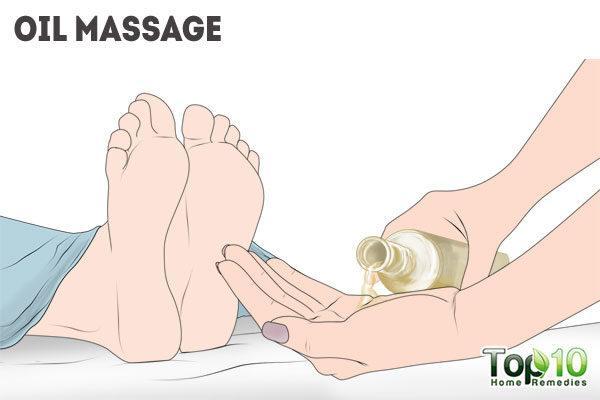 oil massage for peeling skin on feet
