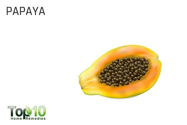 papaya to remove upper lip hair