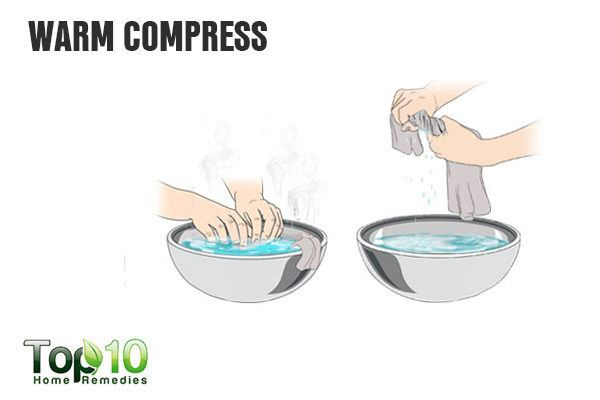 warm compress to drain vaginal cyst