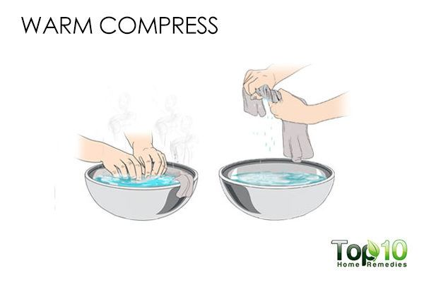 warm compress for ear blackheads
