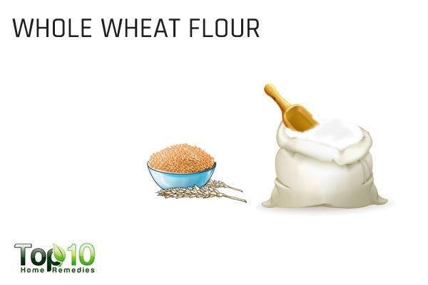 whole wheat flour to reduce upper lip hair