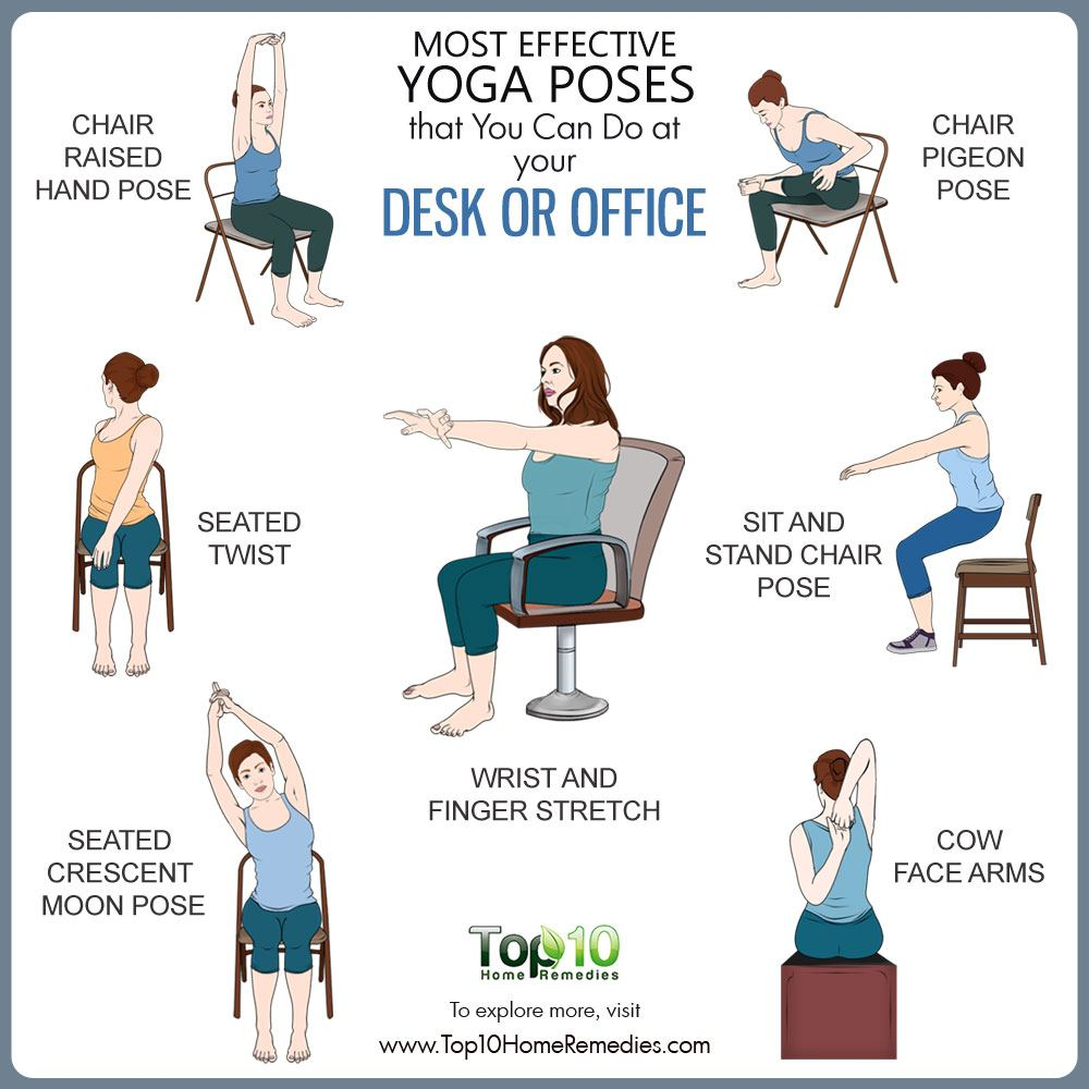Chair yoga poses - Best Yoga Poses For Office