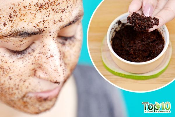 2-ingredient coffee face scrub