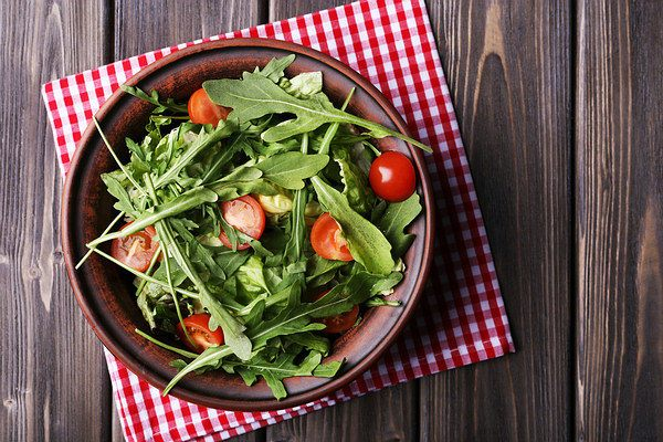 arugula low in calories
