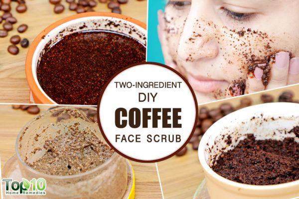 homemade coffee face scrub for glowing skin