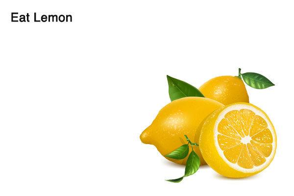 lemon for alcohol smell