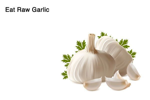 eat garlic to treat alcohol breath