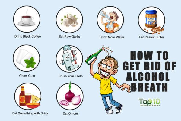 how to treat alcohol breath