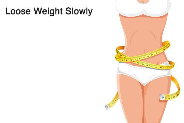 lose weight slowly to fix loose skin after pregnancy