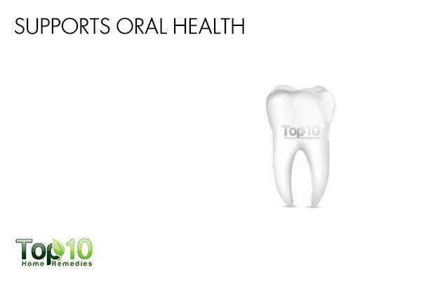 aloe vera supports oral health