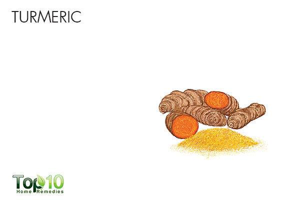 turmeric to treat upper abdominal pain