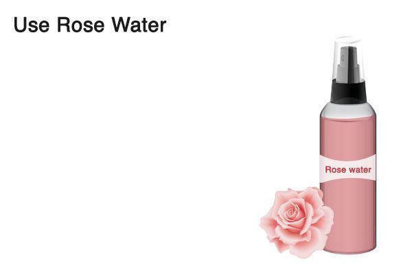 use rose water to tighten loose skin
