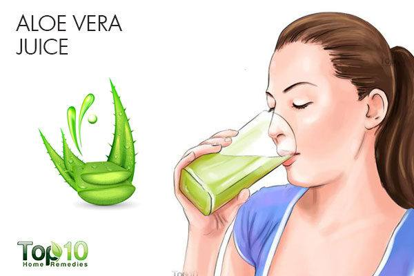 aloe vera juice to heal sour stomach