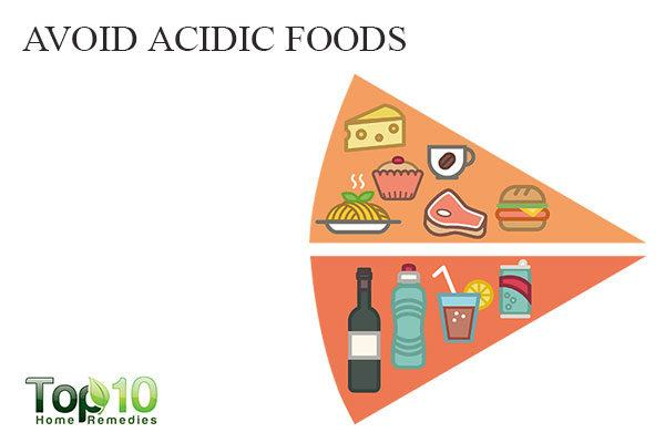avoid acidic foods to avoid white spots on teeth