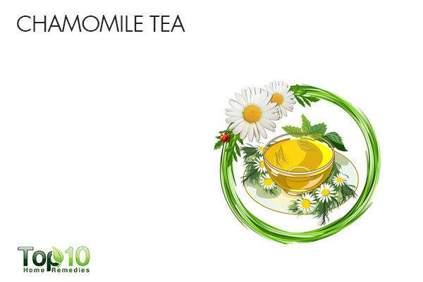 chamomile tea to soothe sour stomach