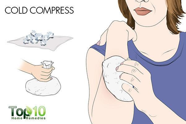 cold compress to relieve postpartum hives