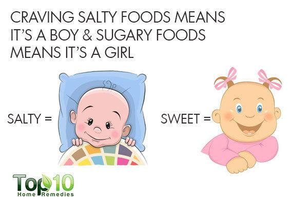 craving sweet or salty foods during pregnancy