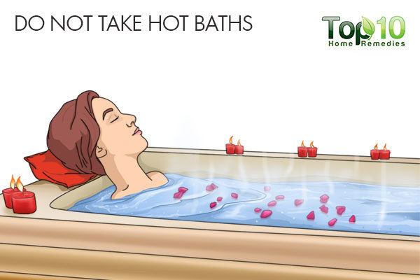 do not take hot baths during pregnancy