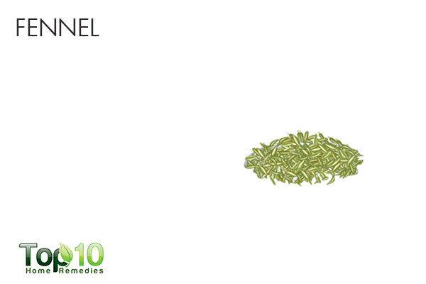 fennel to treat sour stomach