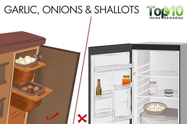 never store onions in refrigerator