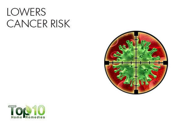 arugula lowers cancer risk