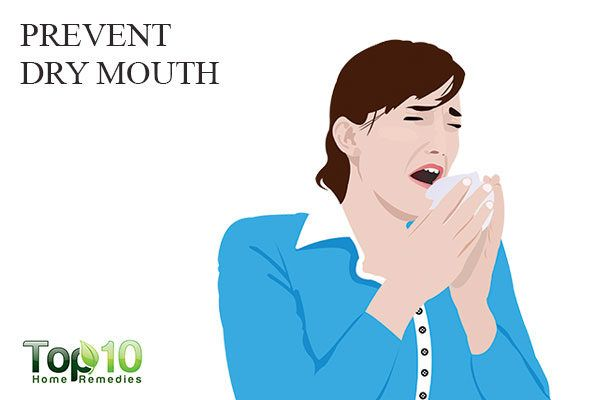 prevent dry mouth to remove white spots on teeth