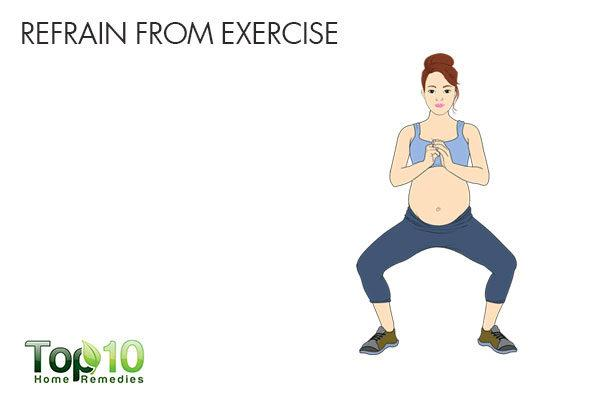 do not refrain from exercise during pregnancy