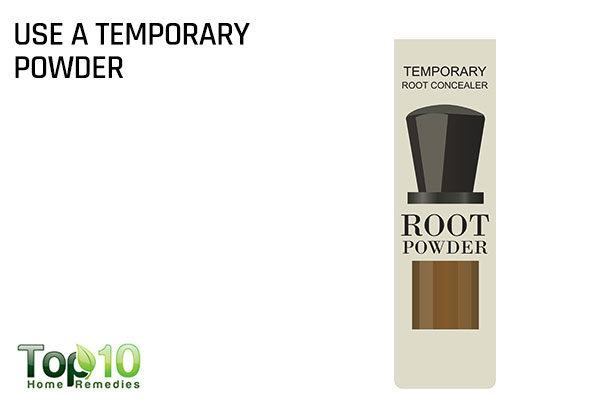 use a temporary root powder to fix gray hair