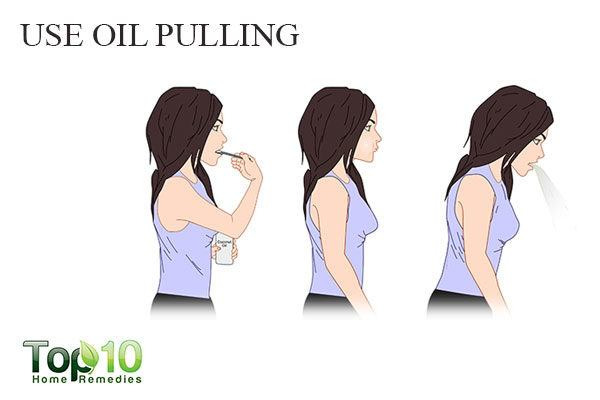 do oil pulling to treat white spots on teeth
