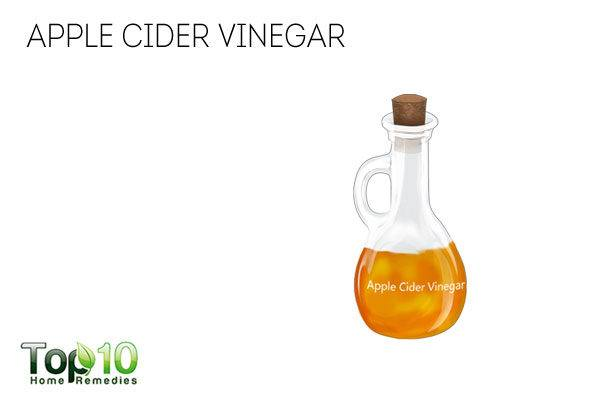 Apple cider vinegar to reduce sweating in hands