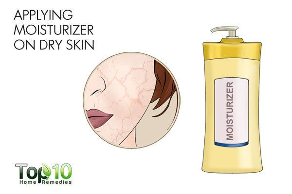 do not apply moisturizer on dry skin