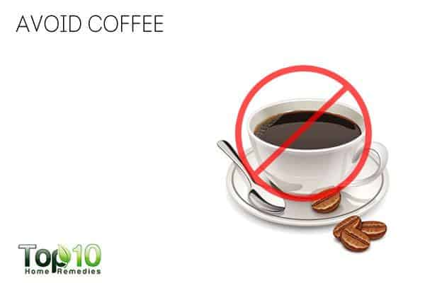 Avoid coffee to deal with jaw pain