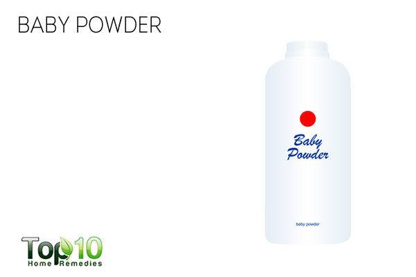 Baby powder for sweaty hands