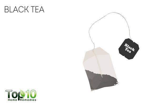 Black tea for sweaty hands
