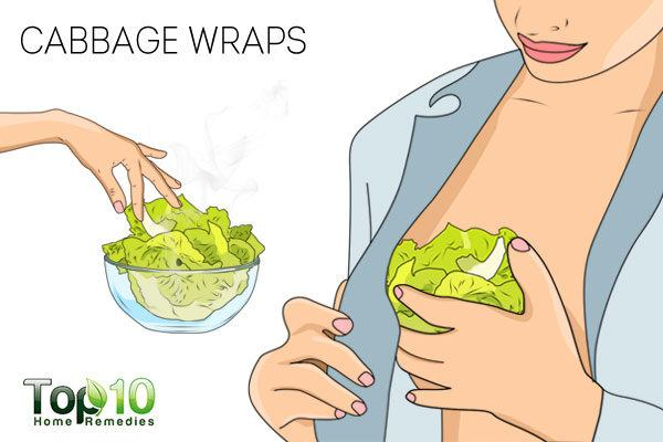 cabbage wraps to soothe tender breasts