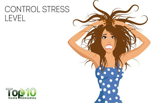 Control stress to avoid sweaty hands