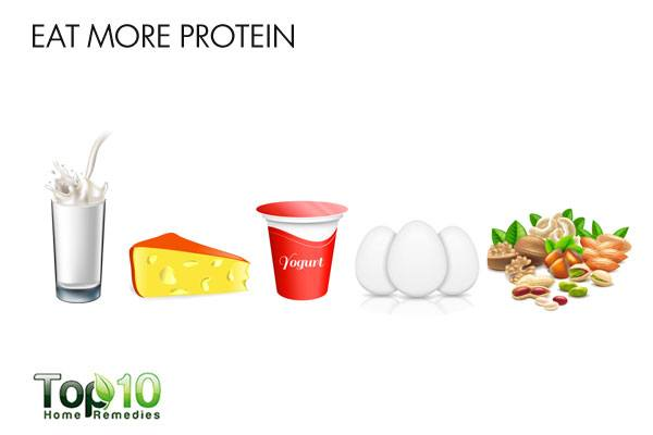 Eat more protein to tighten loose skin after pregnancy