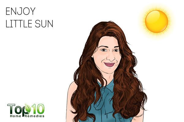 sunlight to prevent and treat dandruff