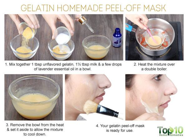 gelatin homemade peel-off mask