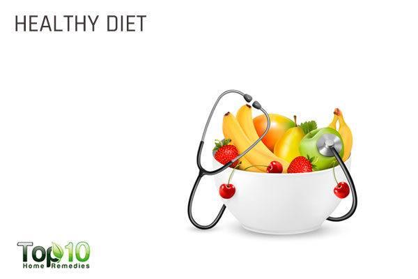 eat healthy diet to combat pregnancy acne