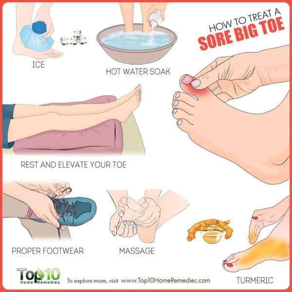How to treat a sore big toe