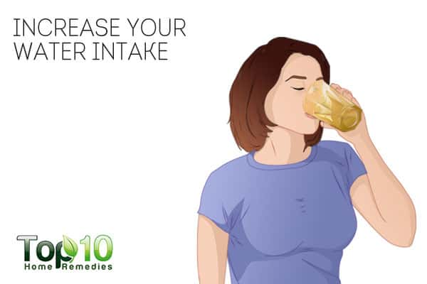 Increase water intake for leg cramps