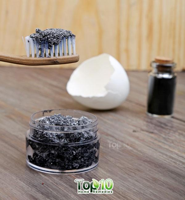 ... natural whitening toothpaste with just three ingredients – activated charcoal, extra-virgin coconut oil and eggshell powder. This homemade toothpaste is ...