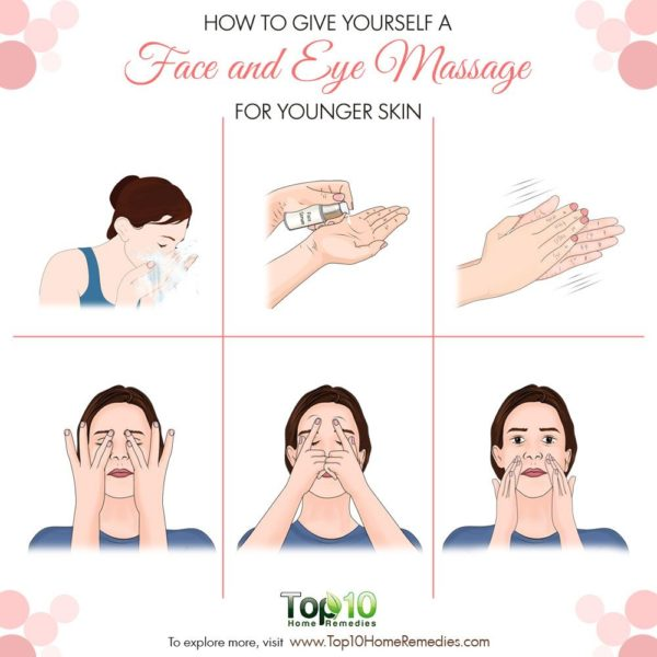 How to give yourself a face and eye massage
