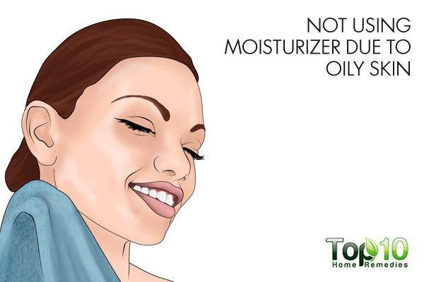 use light moisturizer on oily skin